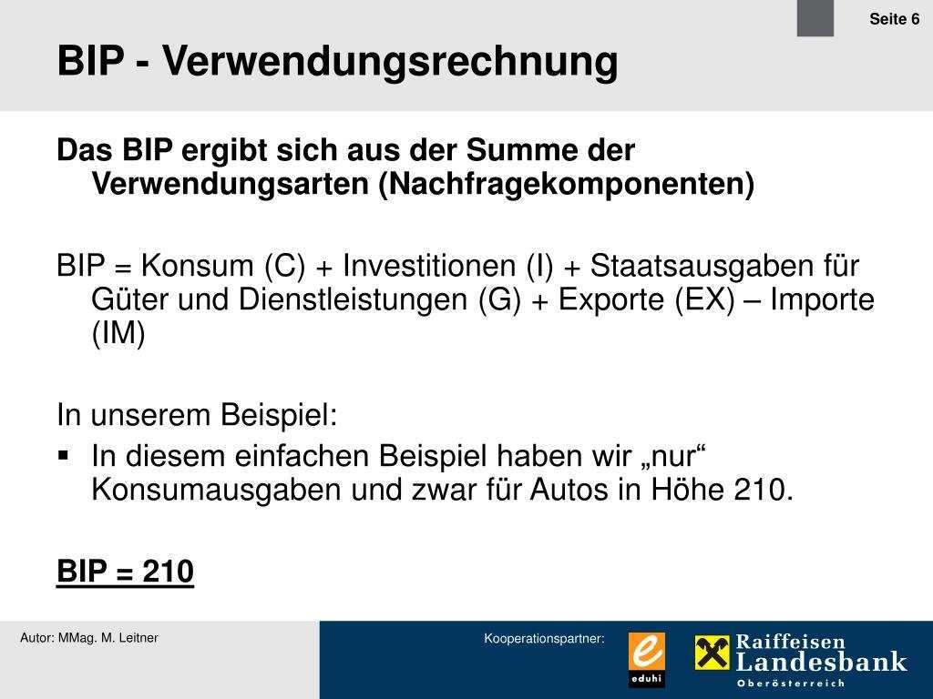 Ppt Berechnung Des Bip Powerpoint Presentation Free Download Id 848603