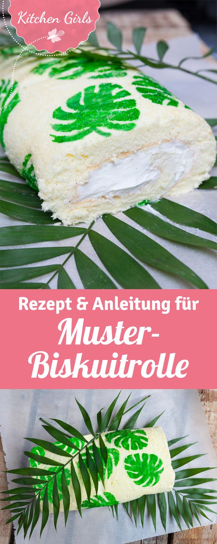 Gemusterte Biskuitrollen Liegen Voll Im Trend Wir Haben Rezept Und Anleitung Fur Euch Rezepte Biskuit Zitronenrolle