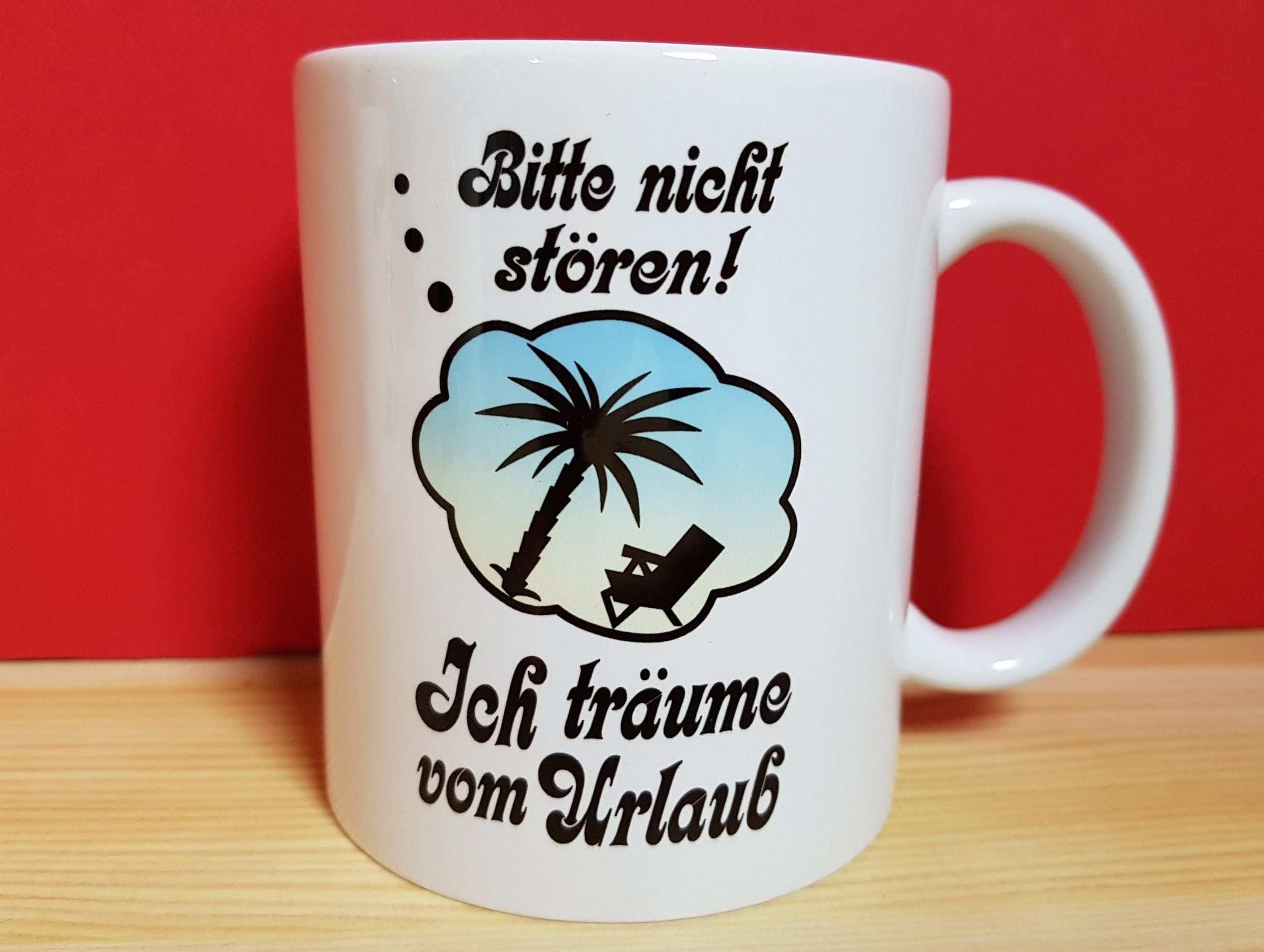 Bitte Nicht Storen Urlaub Palmen Traume Tasse Mugs Glassware Tableware