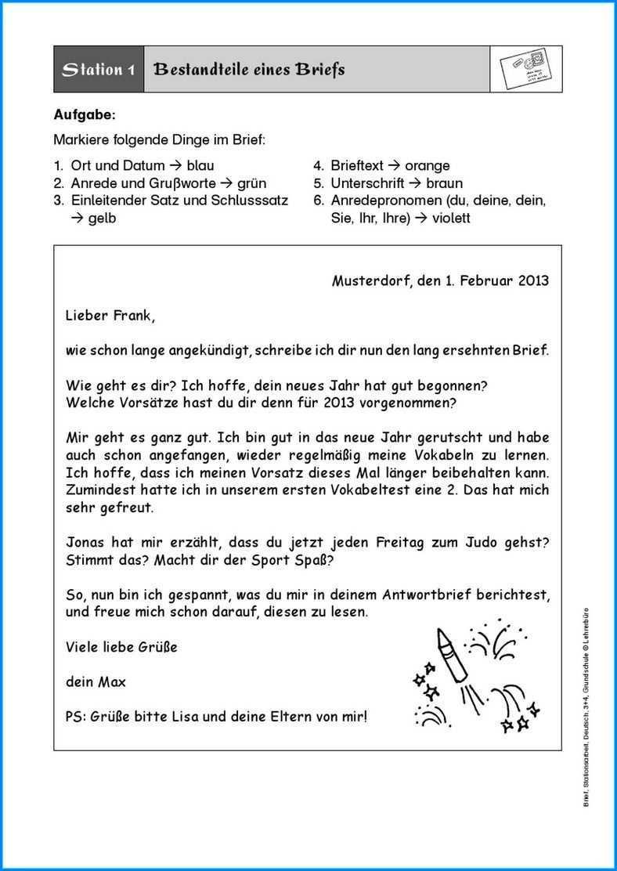 Formeller Brief Schreiben Abstande Brief Schreiben Grundschule Briefe Schreiben Brief