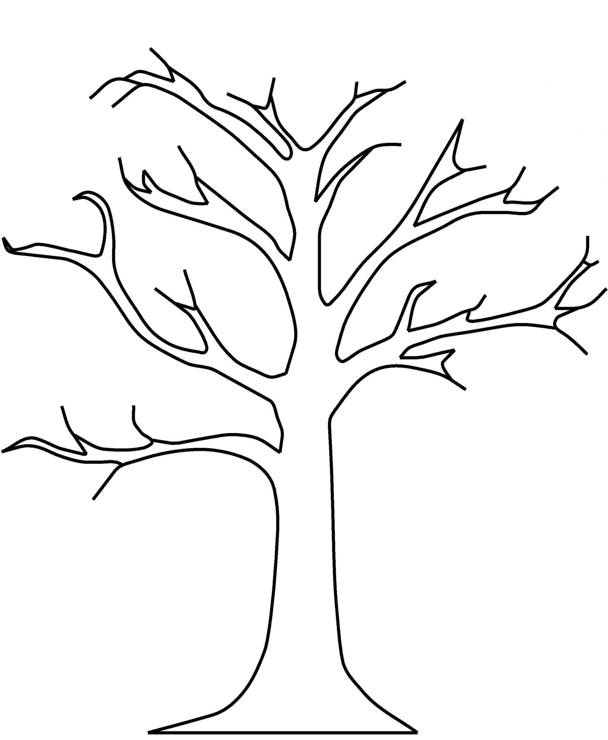 Apple Tree Without Leaves Coloring Pages Baum Umriss In 2020 Baum Vorlage Blattschablone Malvorlagen