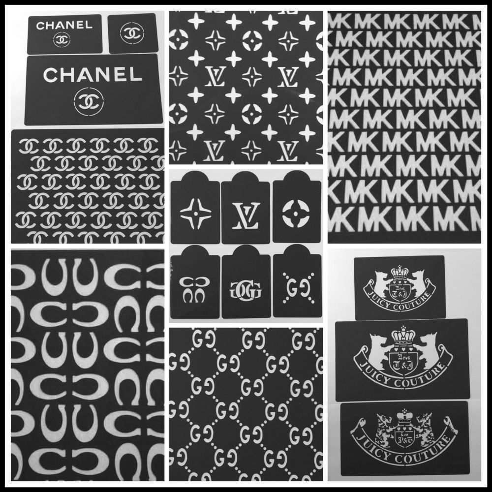 Lot Of 19 Cake Stencils Designers Mk Louis Vuitton Chanel Coach Limited Time Cake Stencil Louis Vuitton Cake Chanel Cake