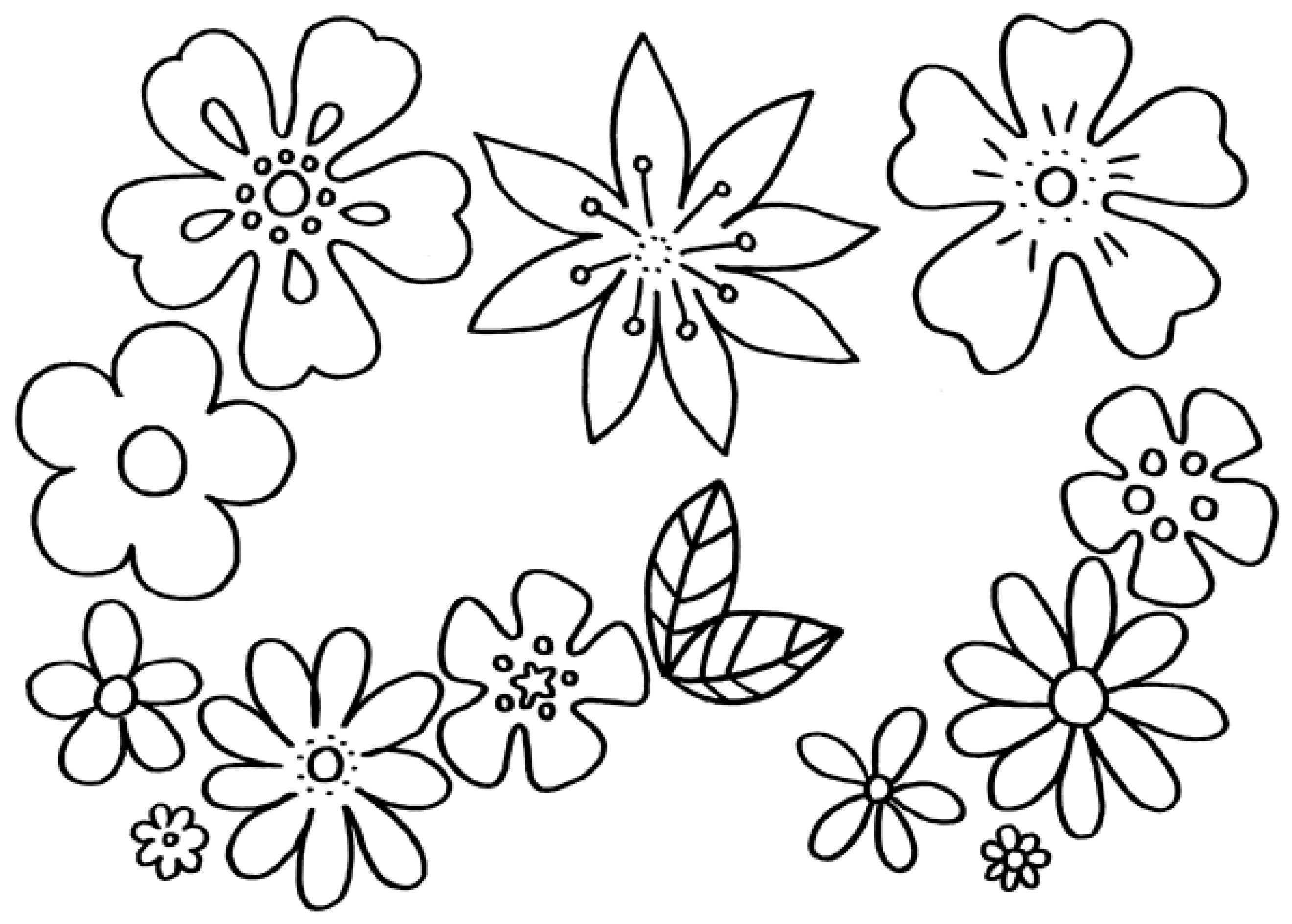 Blumen Malvorlage Zum Ausdrucken Malvorlagen Blumen Blumen Ausmalbilder Blumen Ausmalen