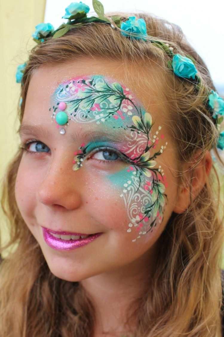 Waldfee Madchen Blumen Blumenkranz Kinderschminken Kinder Schminken Schminken Blumen Kinderschminken