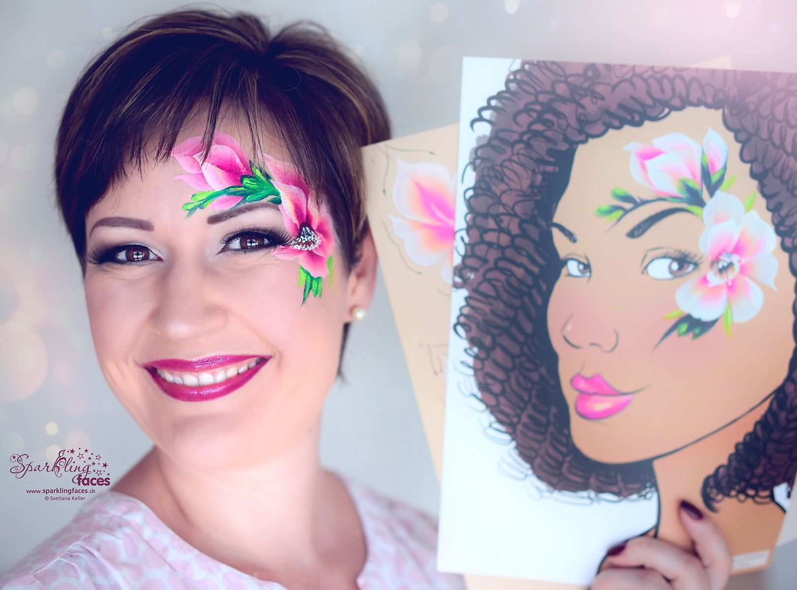 Kinderschminken Blumen In 2020 Bemalte Gesichter Kinderschminken Schminkvorlagen