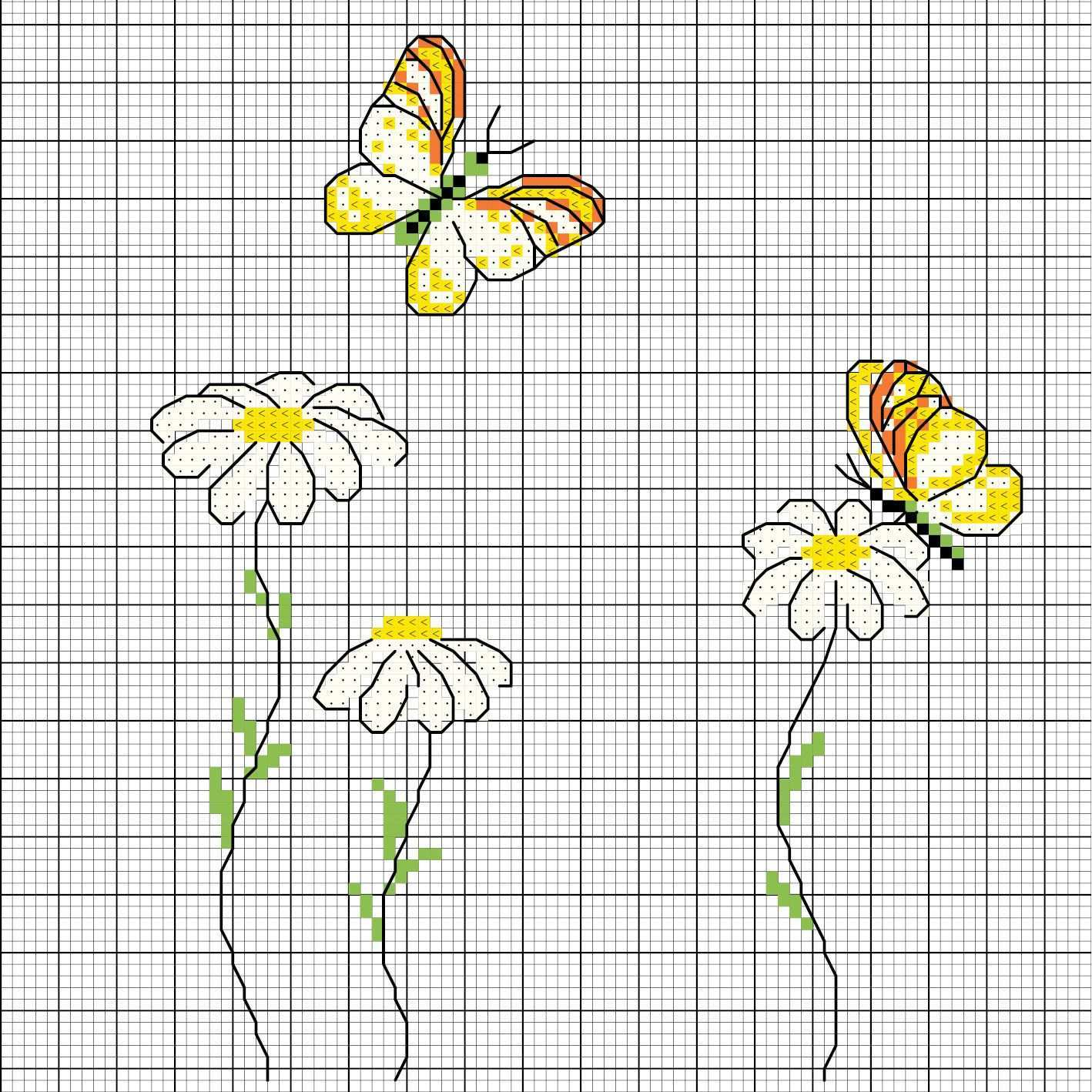 Margerite Mit Schmetterling Sticken Entdecke Zahlreiche Kostenlose Charts Zum Sticken Sticken Stickmotive Kreuzstich Kostenlos