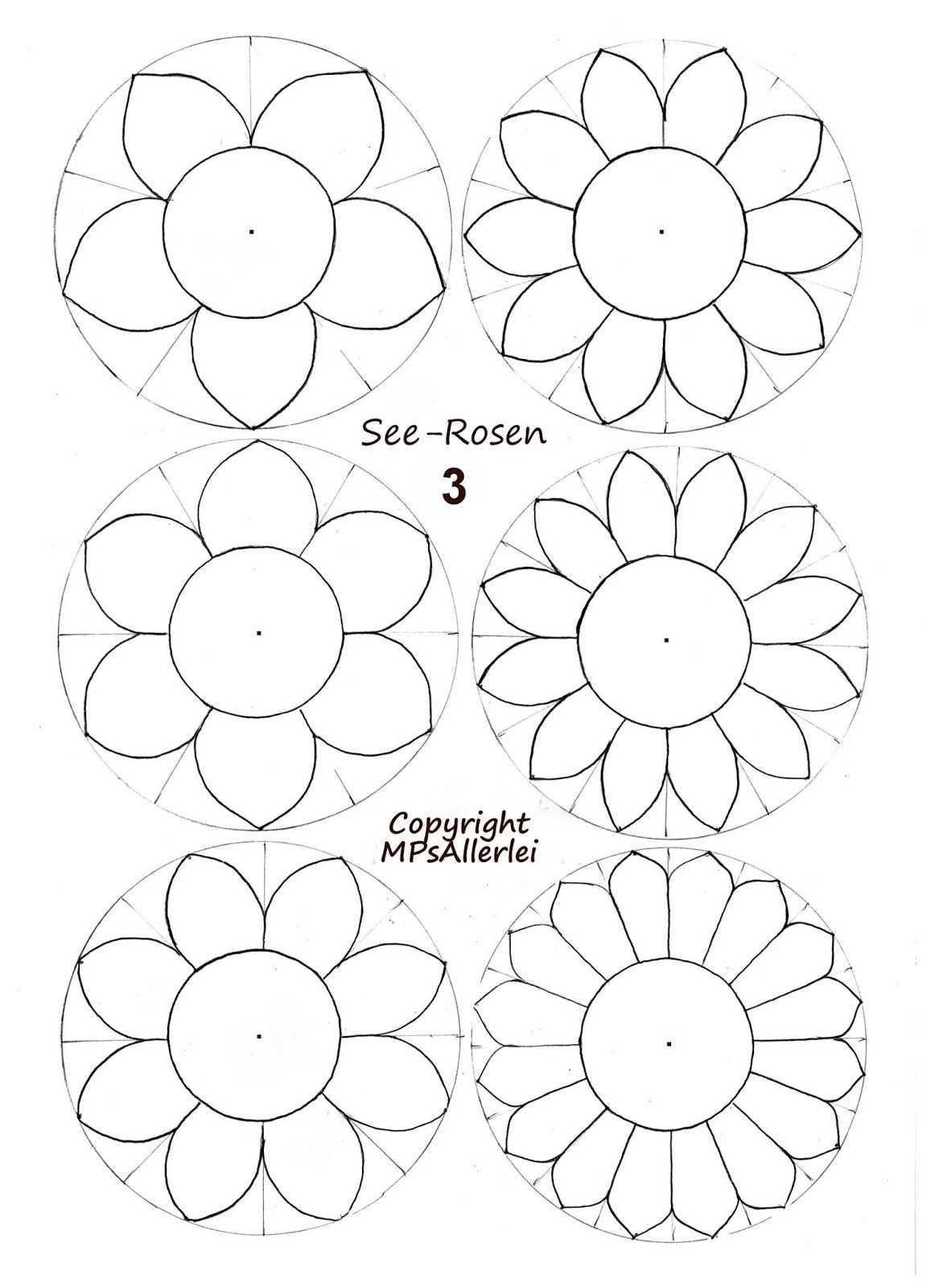 Mps Allerlei Ausdruckvorlage Seerosen 3 Vorlagen Blumen Basteln Blumen Vorlage Blumen Basteln