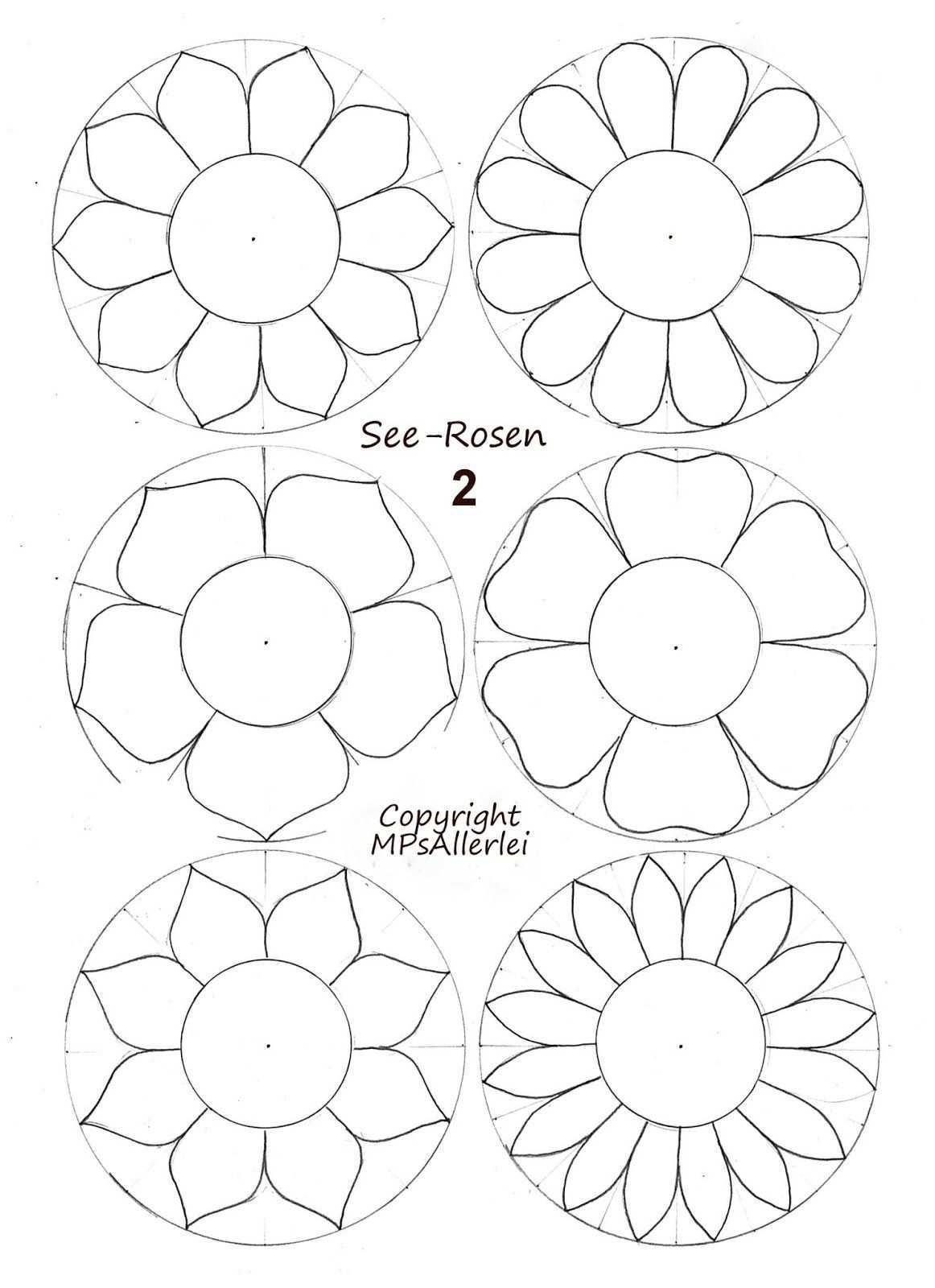Mps Allerlei Ausdruckvorlage Seerosen 2 Vorlagen Blumen Basteln Blumen Vorlage Blumen Basteln