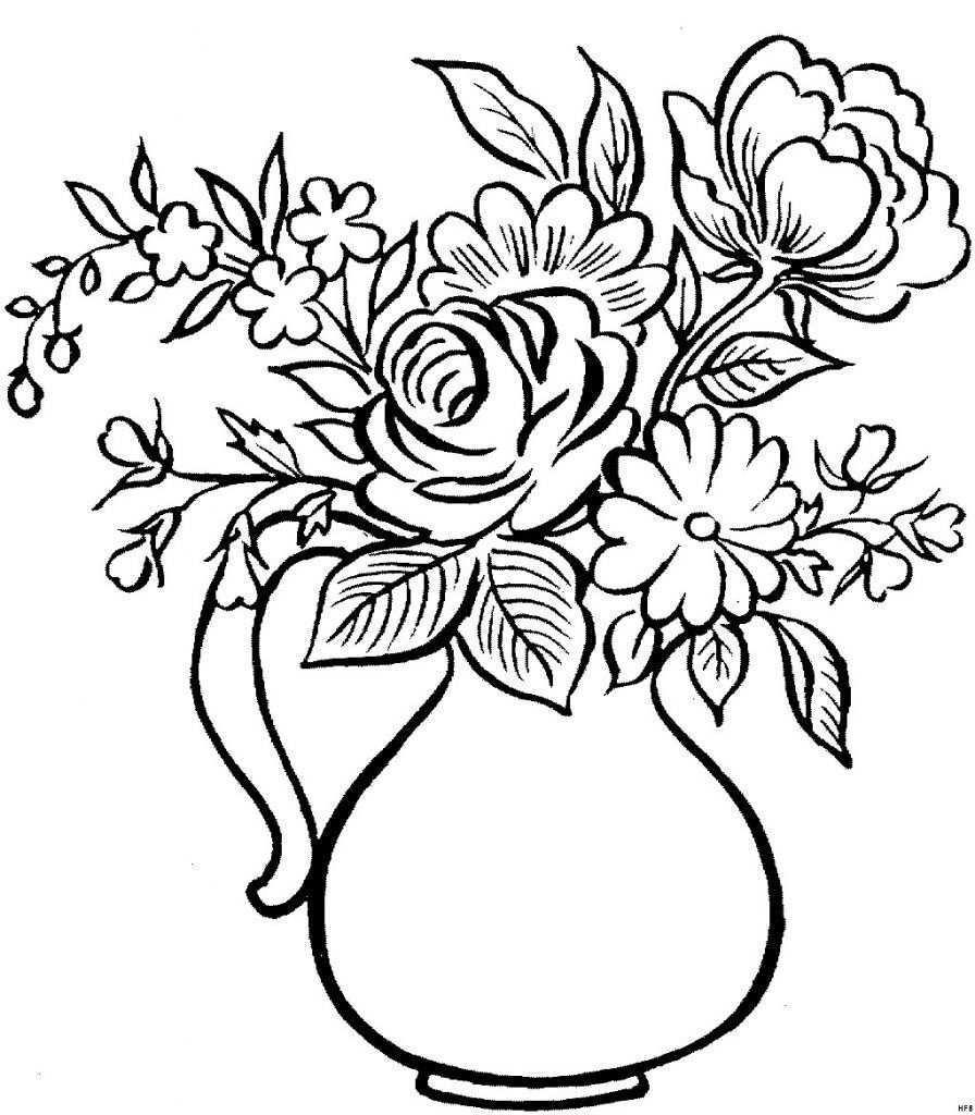 Druckbare Malvorlage Blumen Vorlagen Zum Ausdrucken Ausmalbilder Rosen Ausdrucken Uploadertalk Frisch Malvorlagen Blumen Blum Pencil Drawings Drawings Rose