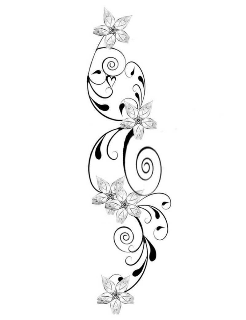 Blumenranken Tattoo 20 Schone Vorlagen Fur Diverse Korperstellen Blumenranken Tattoo Tattoo Vorlagen Kleine Herz Tattoos