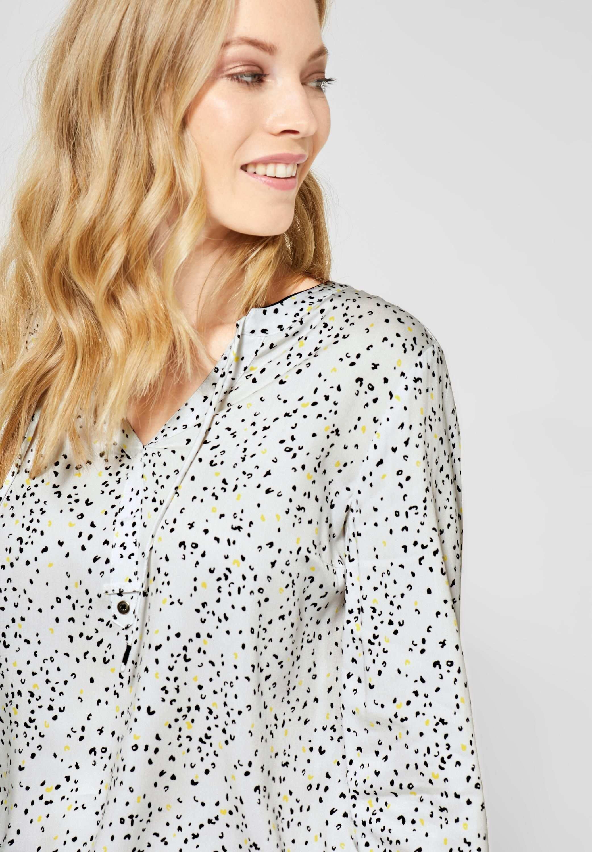 Cecil Bluse Mit Muster In Pure Off White Blusen Damen Bluse Damen Mode