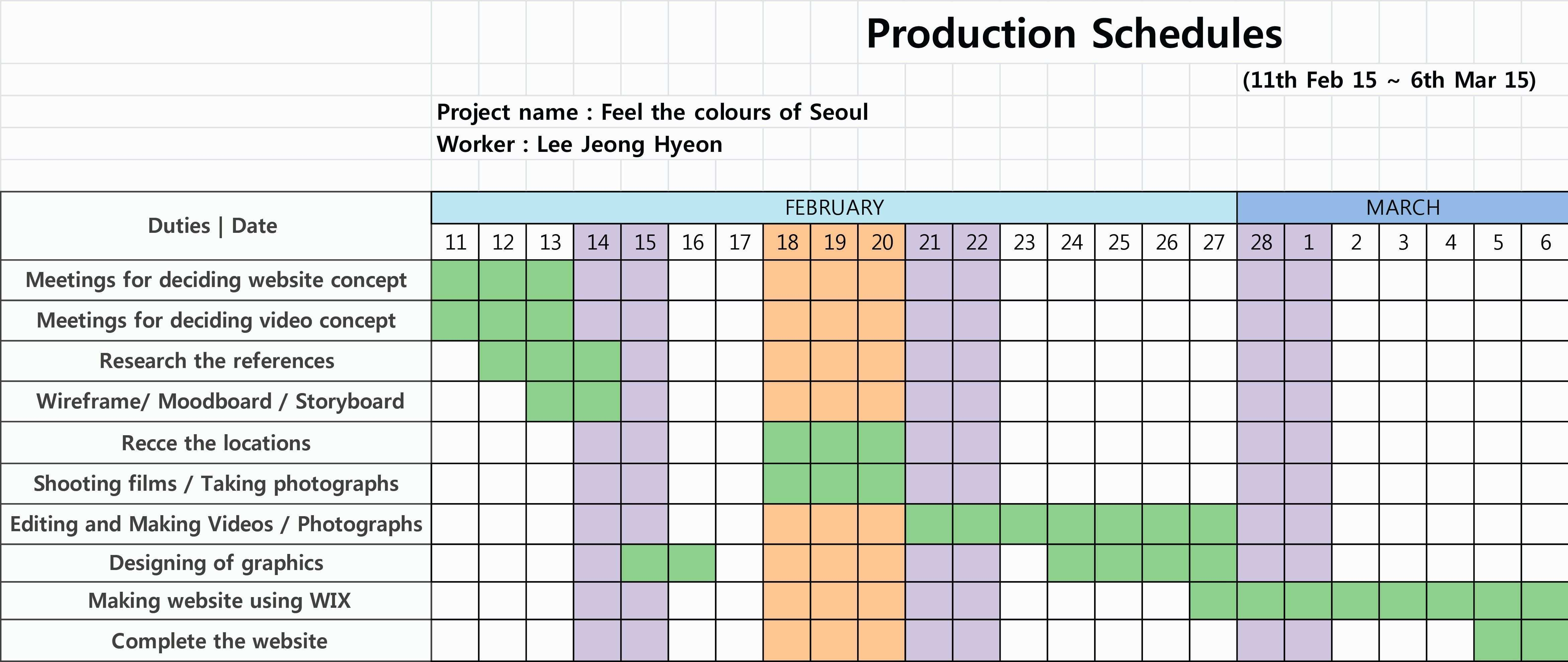 New Production Planning Chart In Excel Exceltemplate Xls Xlstemplate Xlsformat Excel Schedule Template Simple Cover Letter Template Free Brochure Template