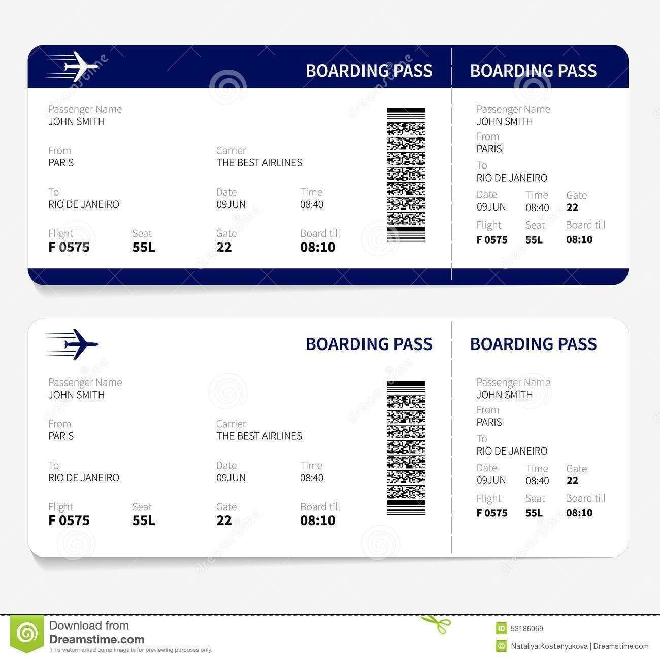 Airline Boarding Pass Template Free Boarding Pass Template Fake Plane Ticket Ticket Template