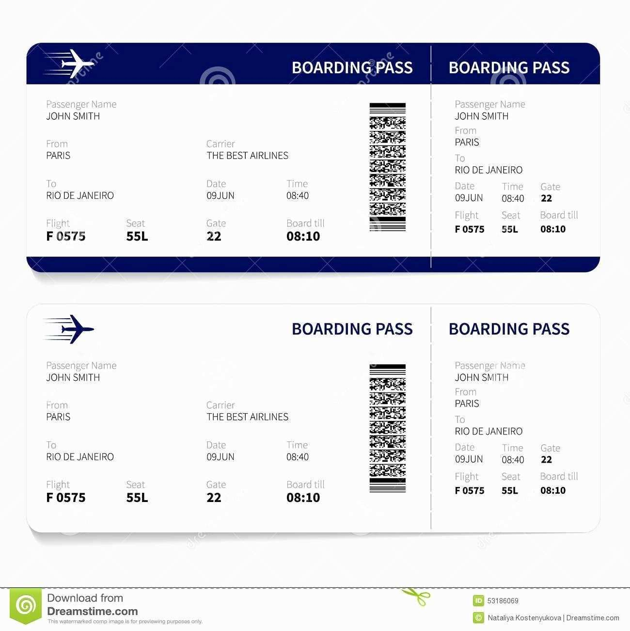 Plane Ticket Template Pdf Beautiful Airline Ticket Template Free Sample Customer Service Boarding Pass Template Fake Plane Ticket Ticket Template