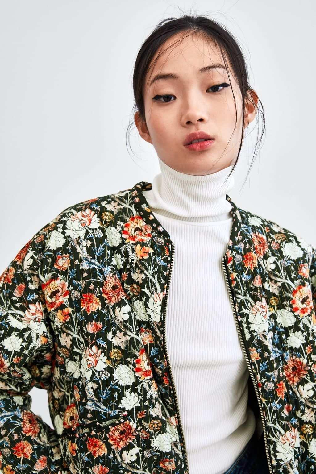 Image 3 Of Printed Quilted Bomber Jacket From Zara Bomberjacke Jacken