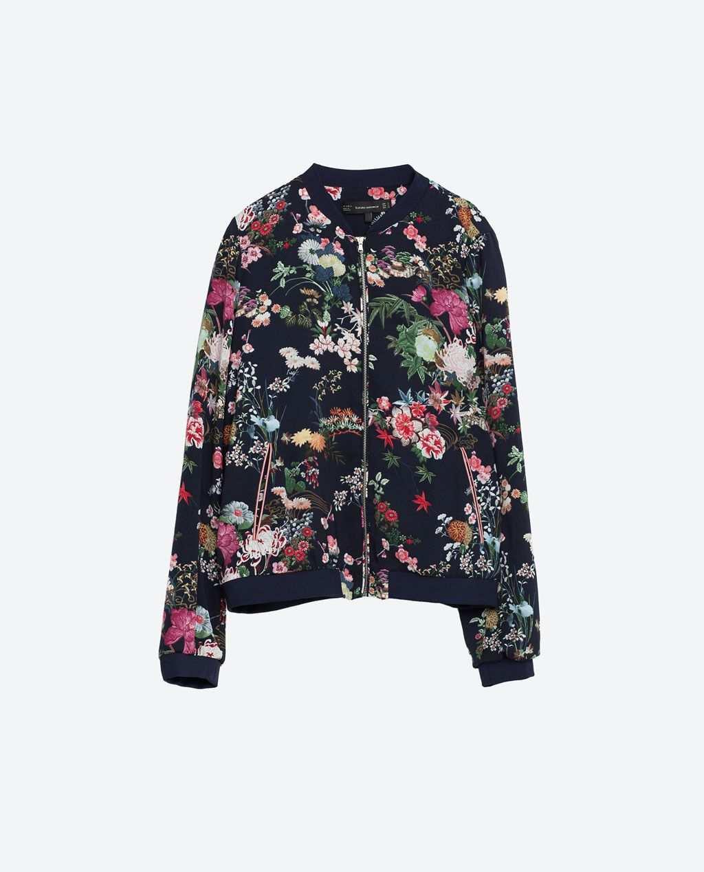 Image 8 Of Oriental Print Bomber Jacket From Zara Bomberjacke Mantel Damen Jacken