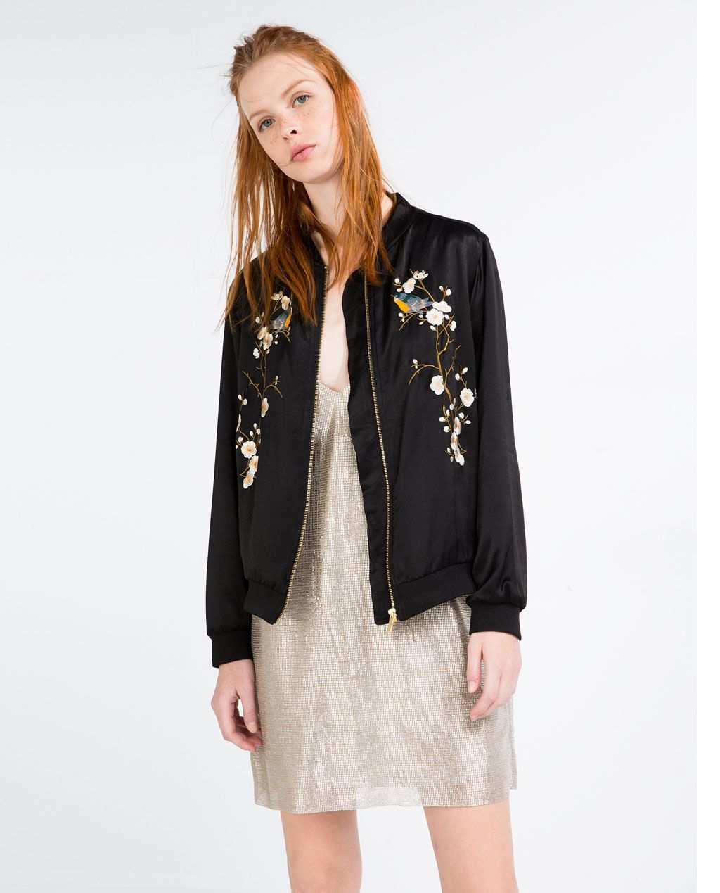 Floral Embroidered Bomber Jacket Bombers Woman Bomberjacke Damen Bomberjacke Jacken