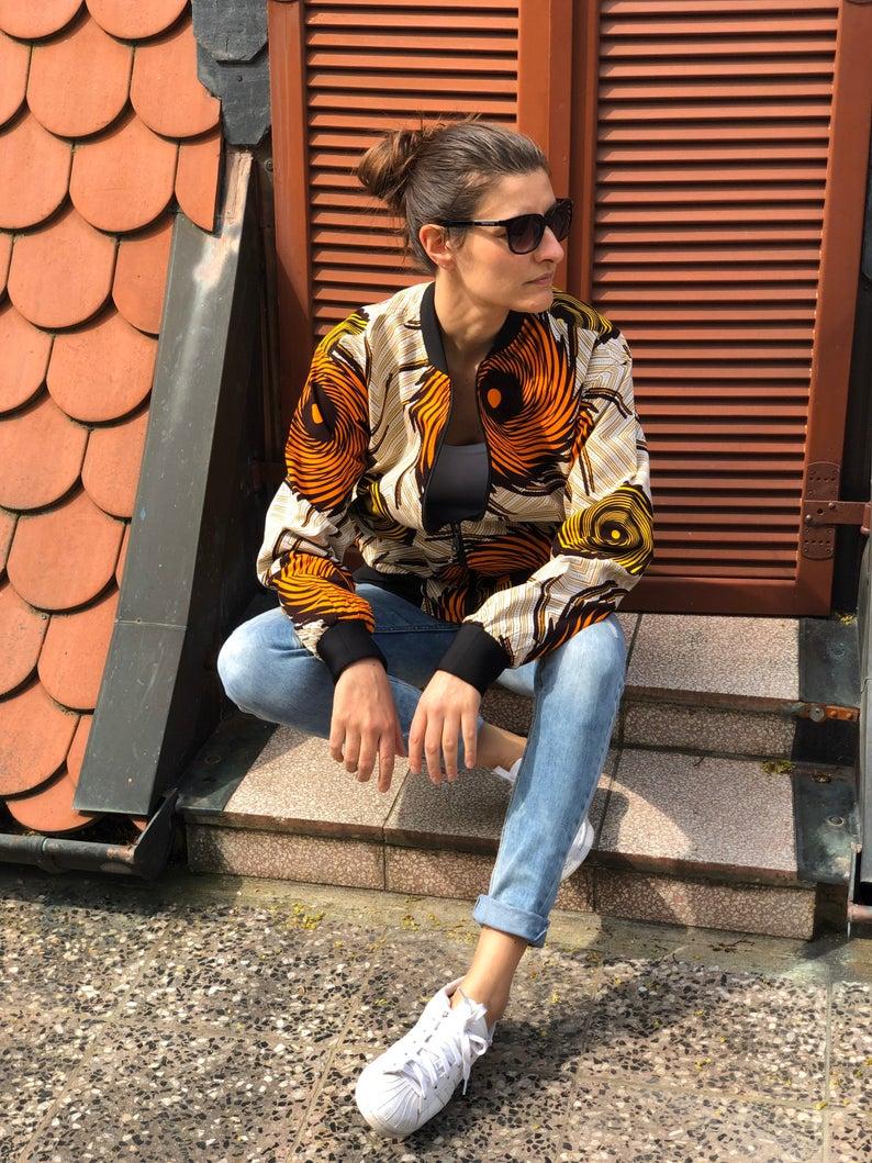 Herren Bomber Jacke I Damen Bomberjacke I Jacke Afrika I Afrikanische Bomberjacke I Bomber Jacke Afrikanisches Muster I Jacke Damen Fruhling Fashion Style Hipster