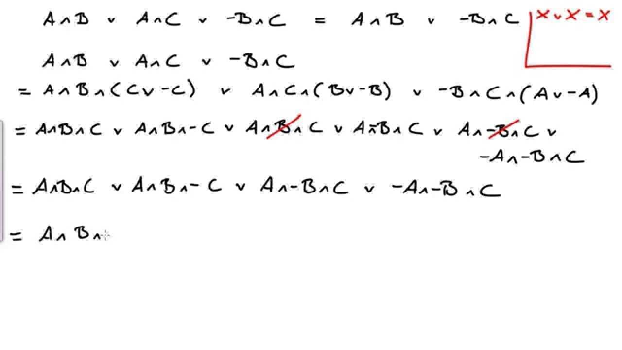 Bool Sche Algebra Losung Aufg 1 Youtube