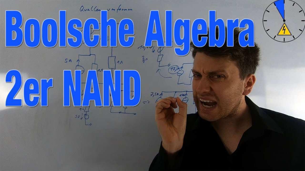 Ubung Boolsche Algebra Mit 2er Nand Darstellen Vereinfachen