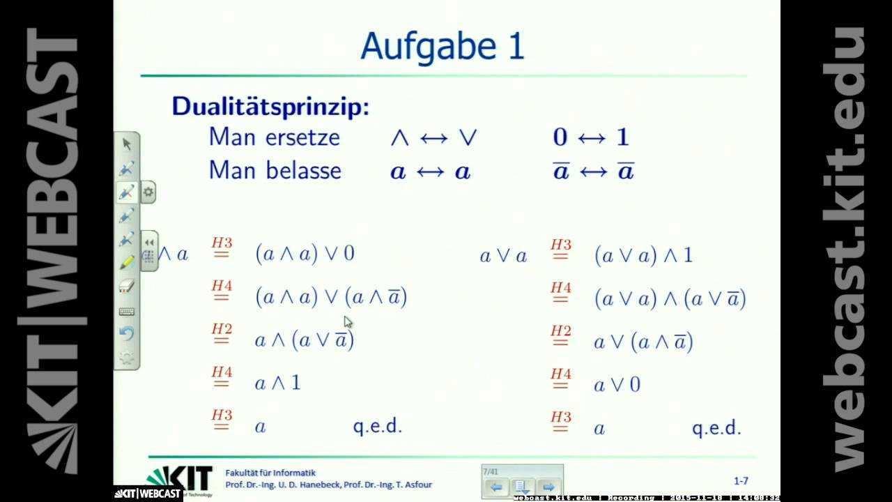 07 Dualitatsprinzip Boolesche Funktionen Disjunktive Und Konjunktive Schaltungen Youtube