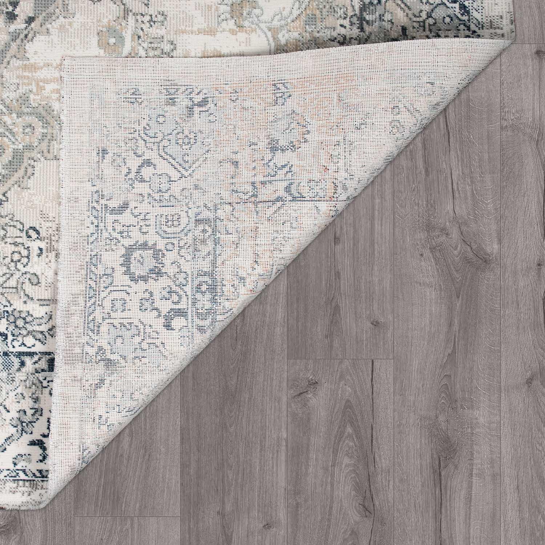 Teppiche Teppichboden Teppich Used Look Flachgewebe Fur Wohnzimmer In Grau Bordure Ethno Muster Mobel Wohnen Blowmind Com Br