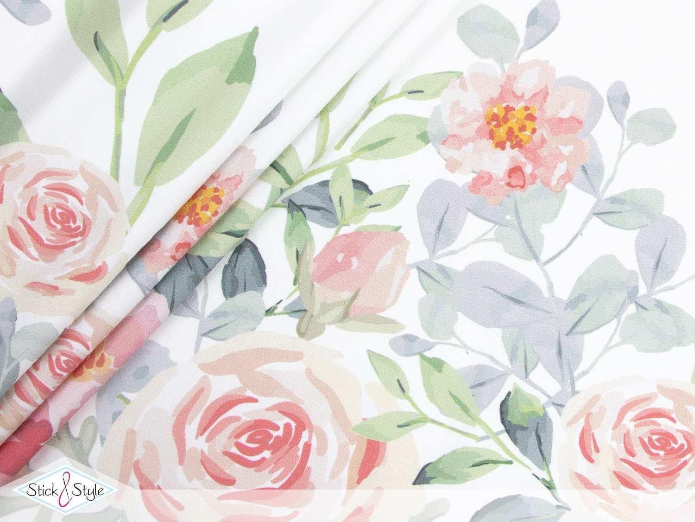 Panel Jersey Floral Dream Bordure Weiss Biobunt Stick Und Style