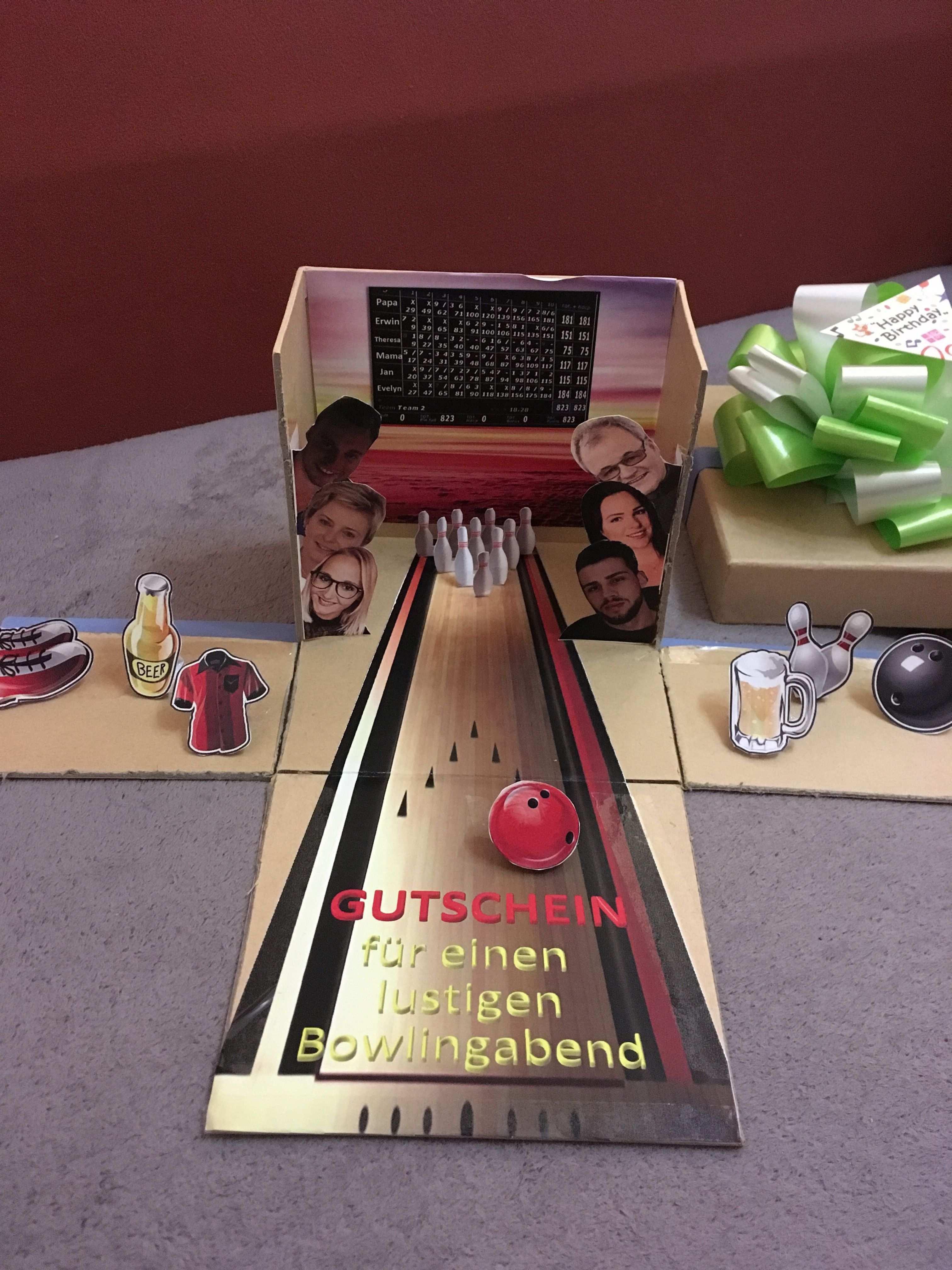 Bowlinggutschein Gutschein Basteln Gutschein Verpacken Geburtstag Gutscheine