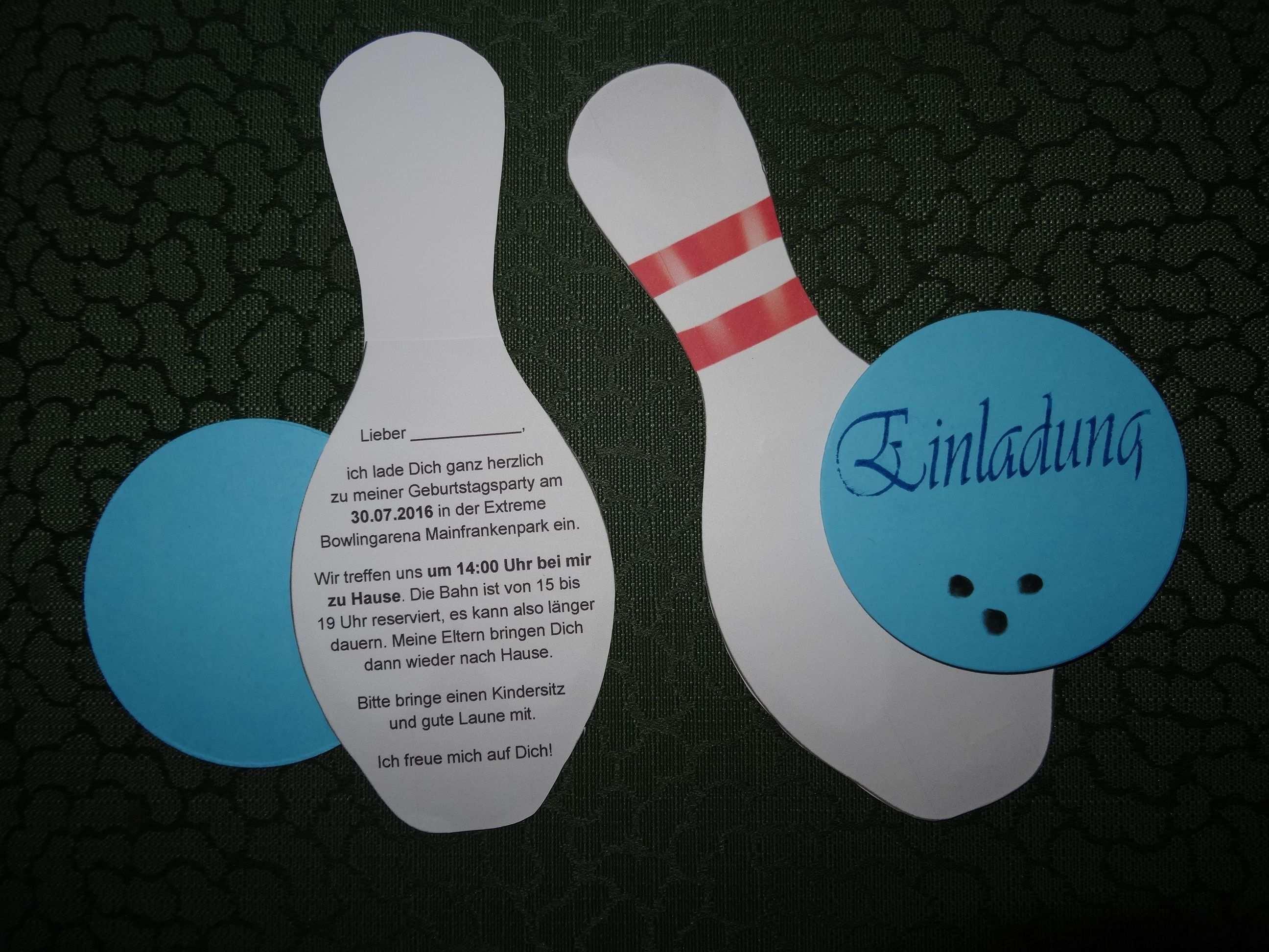 Text Einladung Kindergeburtstag Kegeln Fresh Kegeln Einladung Vorlage Kostenlos Geburtstagsgeschenke Karten