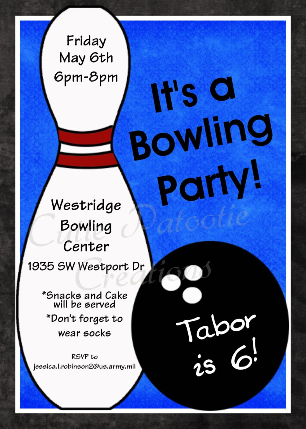 Einladung Bowling Text In 2020 Bowling Party Invitations Party Invite Template Bowling Birthday Party Invitations Free