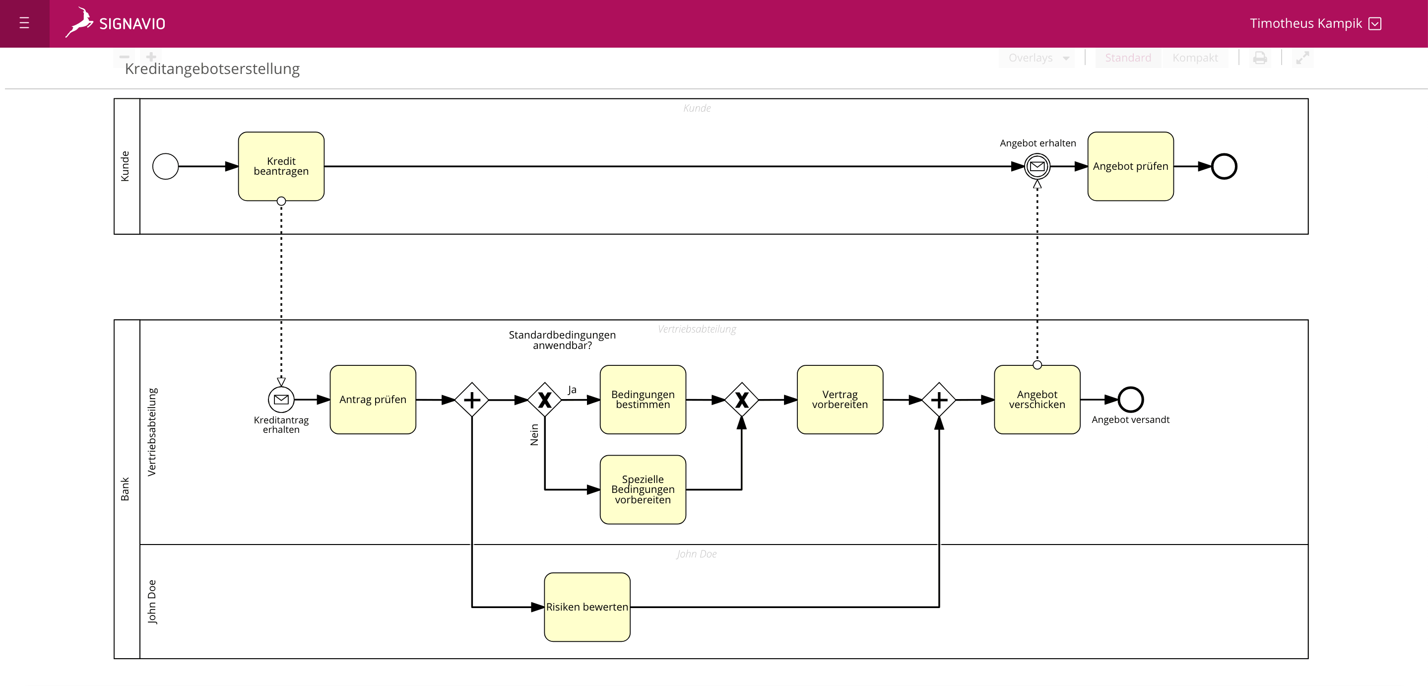 Bpmn Basics Pools Und Lanes Verstehen Signavio