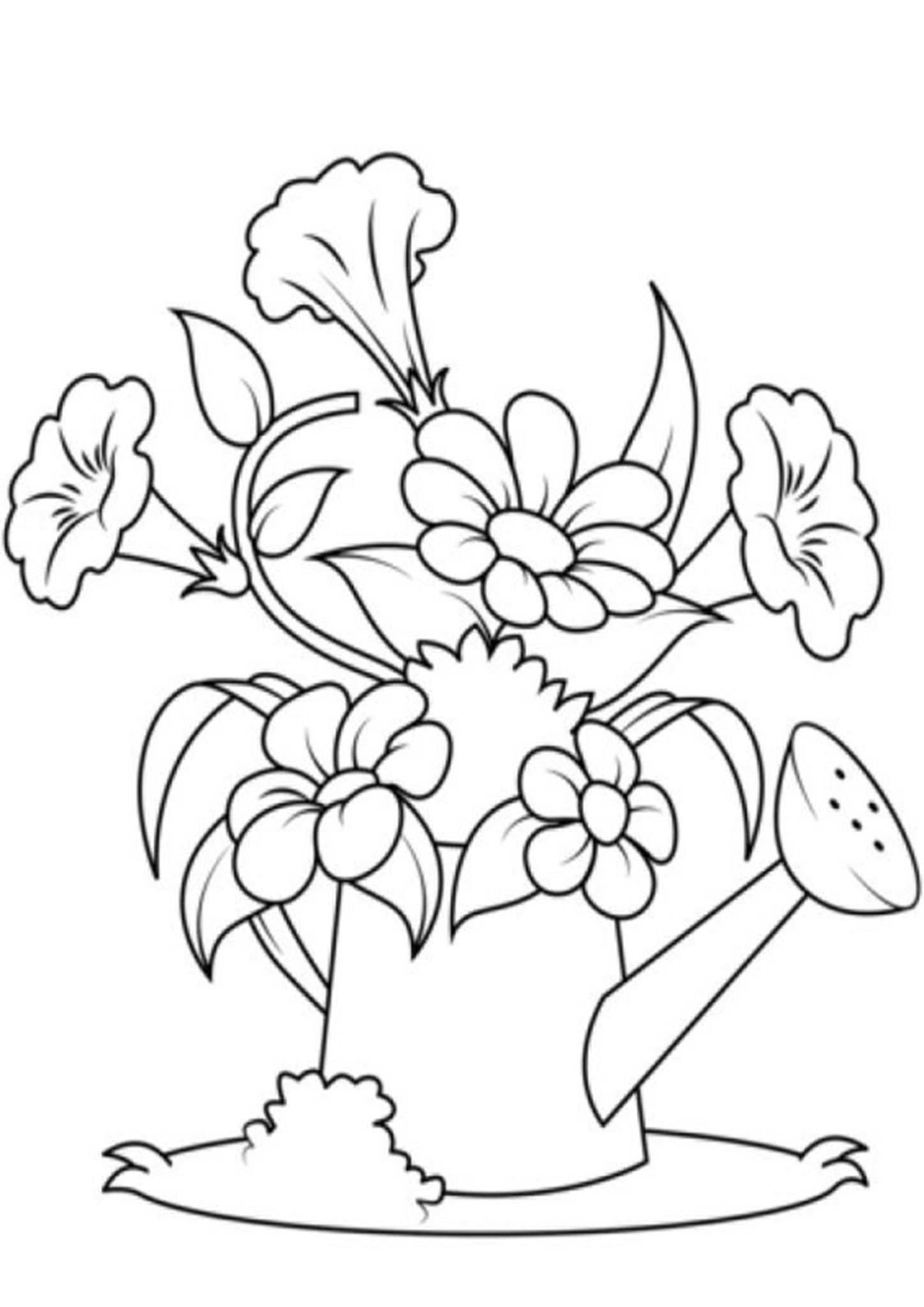 Free Easy To Print Flower Coloring Pages Free Easy To Print Flower Coloring Pages Tulamama In 2020 Malvorlagen Blumenzeichnung Blumen Ausmalbilder