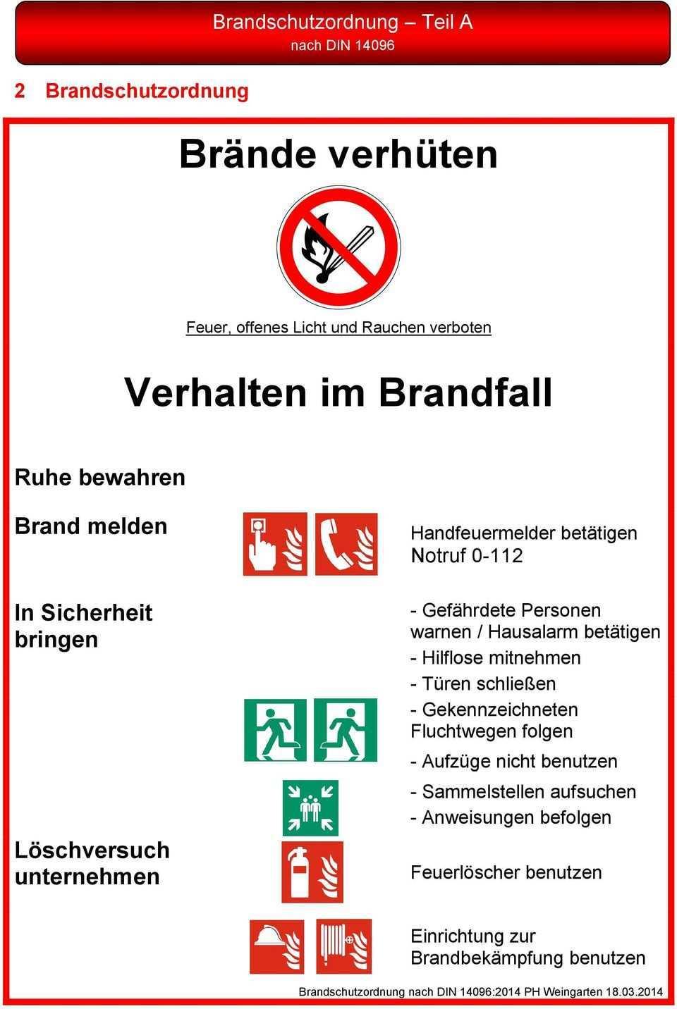 Brandschutzordnung Nach Din Pdf Kostenfreier Download