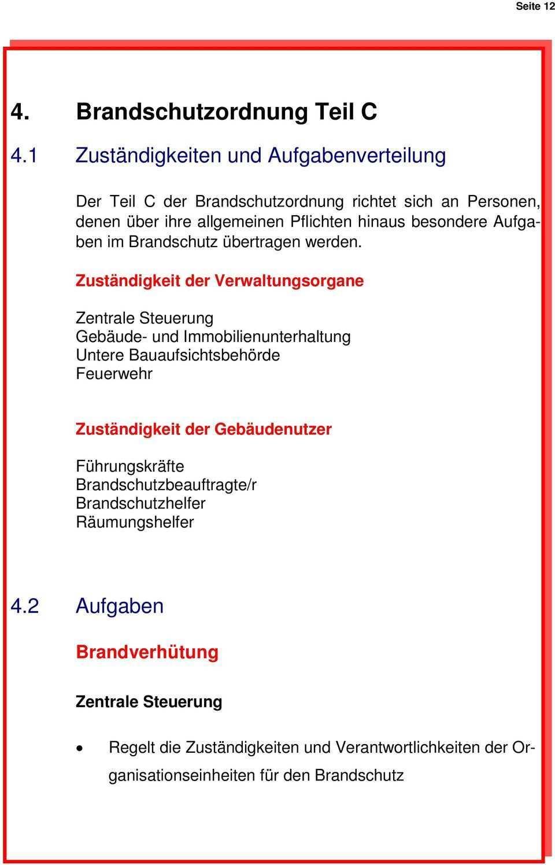 Muster Brandschutzordnung Allgemeine Verwaltung Pdf Kostenfreier Download