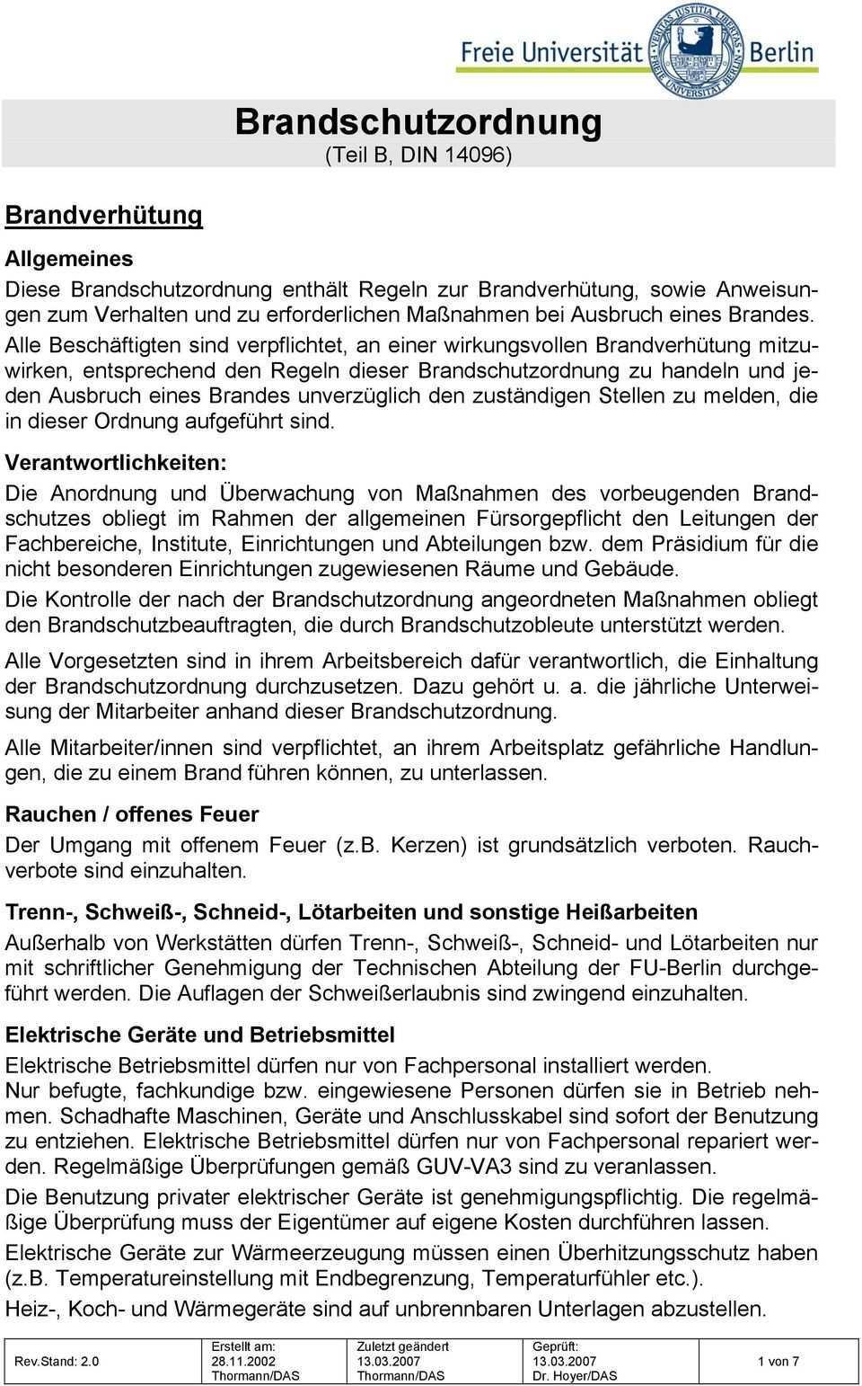 Brandschutzordnung Teil B Din 14096 Pdf Free Download