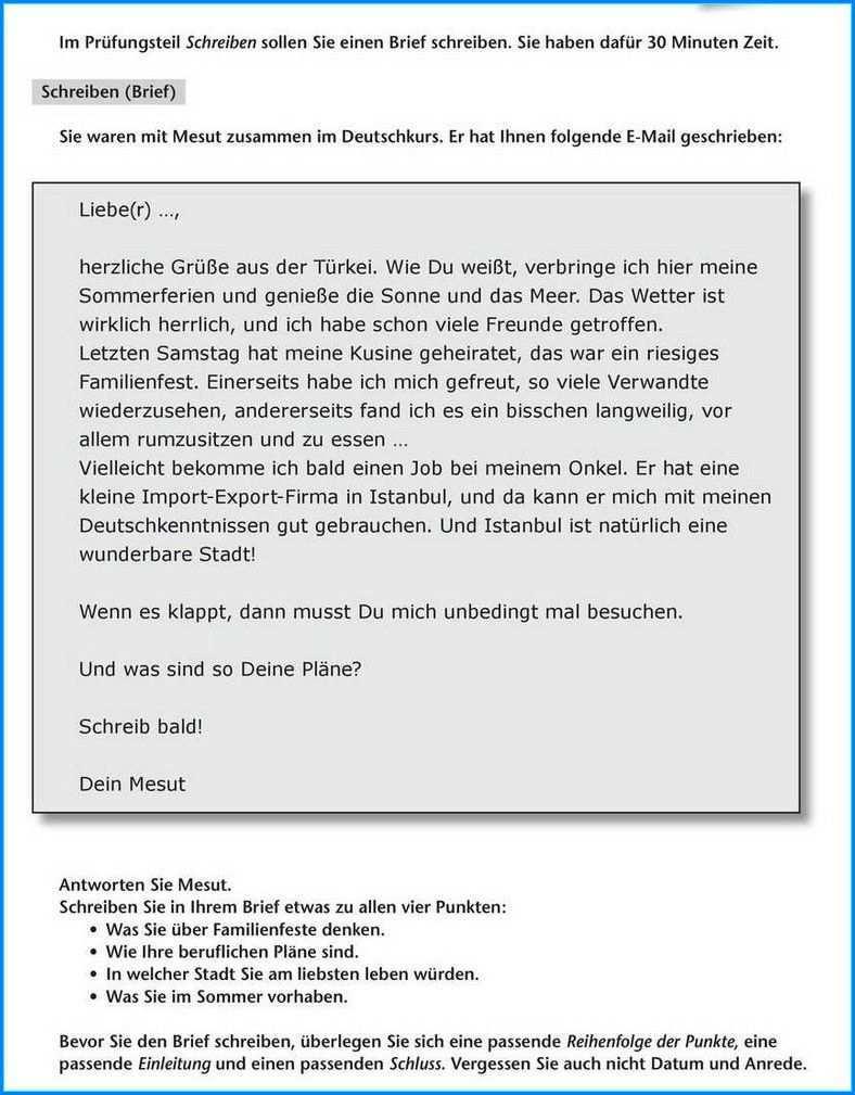 Formeller Brief Schreiben B1 Briefe Schreiben Brief Schreiben