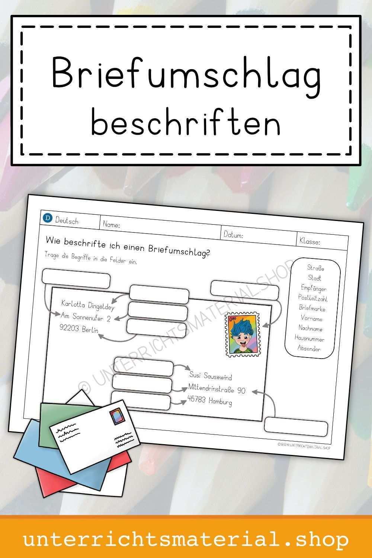 Briefumschlag Beschriften Grundschule Briefumschlag Umschlag
