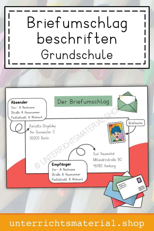 Briefumschlag Beschriften Grundschule Grundschule Beschriftung Briefumschlag Briefumschlag