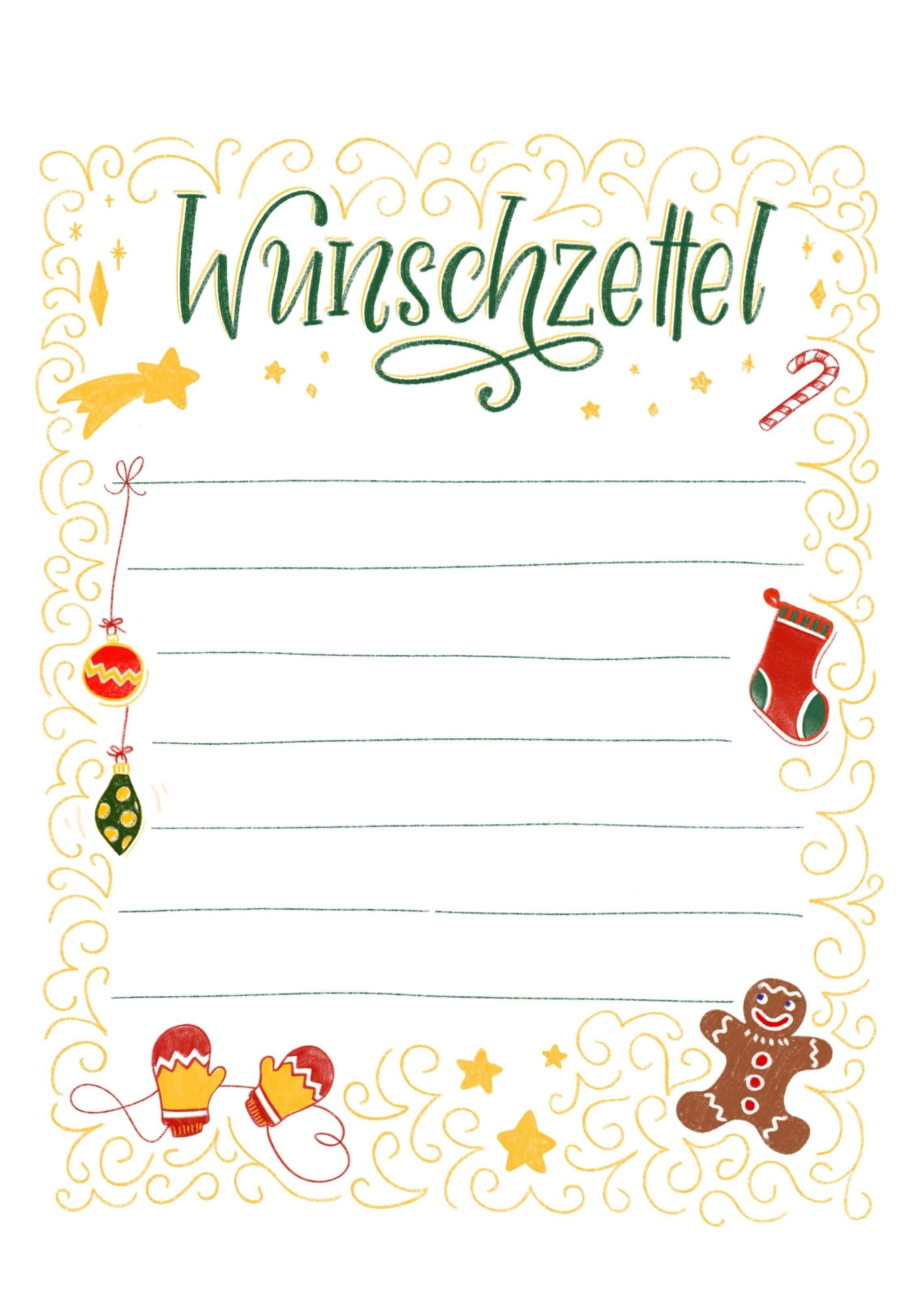 Wunschzettel Vorlage Zum Ausdrucken Bunte Galerie Wunschliste Weihnachten Brief Ans Christkind Weihnachtskarte Grusse
