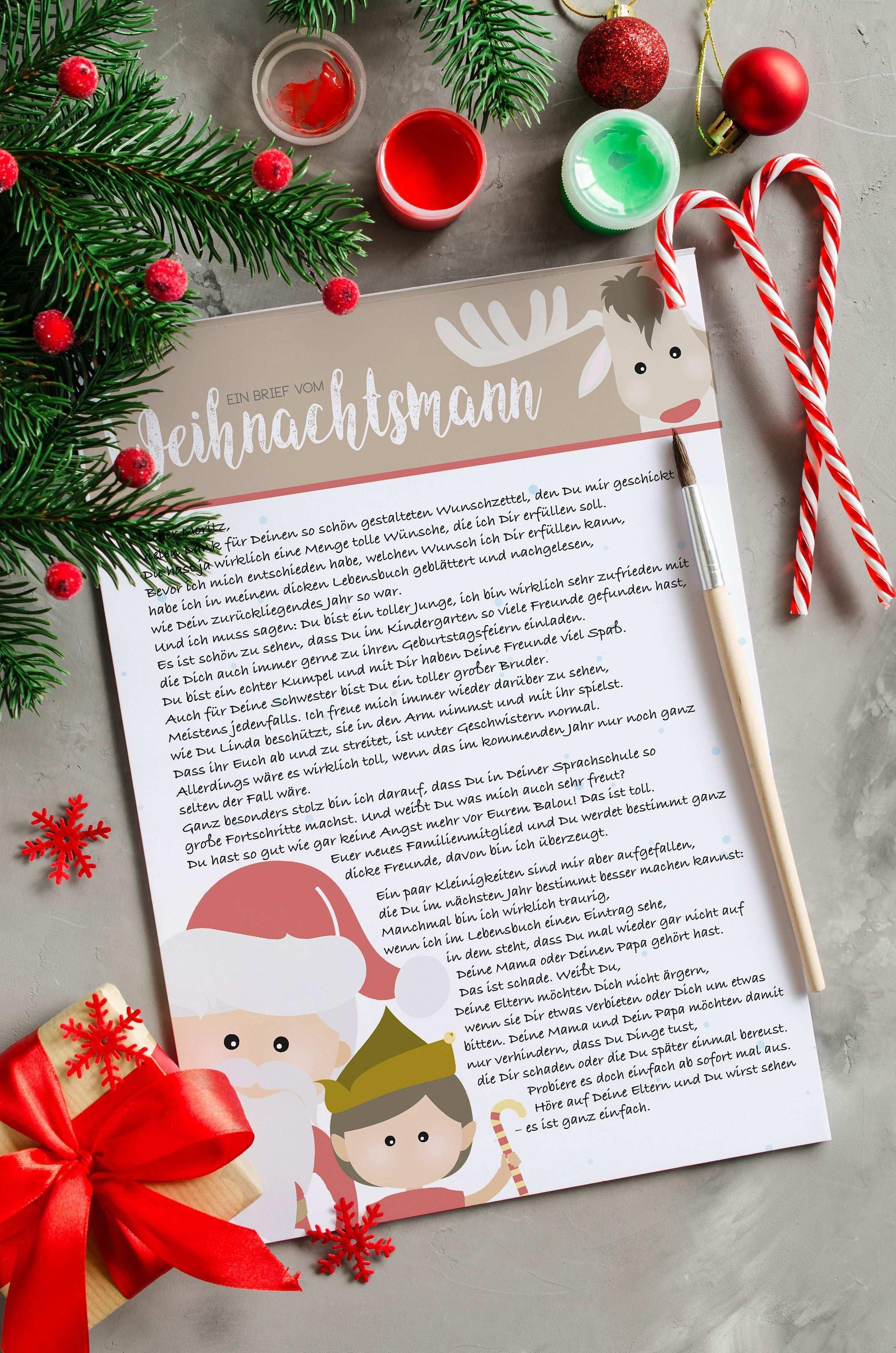 Wir Haben Etwas Ganz Besonderes Fur Euch Im Shop Einen Brief Vom Weihnachtsmann Fur Eure Kleinen Und Basteln Weihnachten Brief Vom Weihnachtsmann Weihnachten