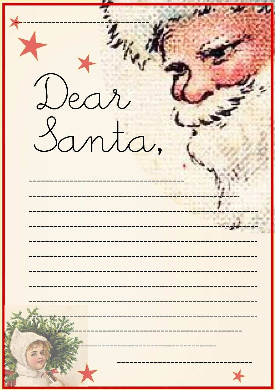 Free Printable Letter To Santa Claus Template Christmas Holiday Kids Christmas List Template Santa Template Christmas Fonts