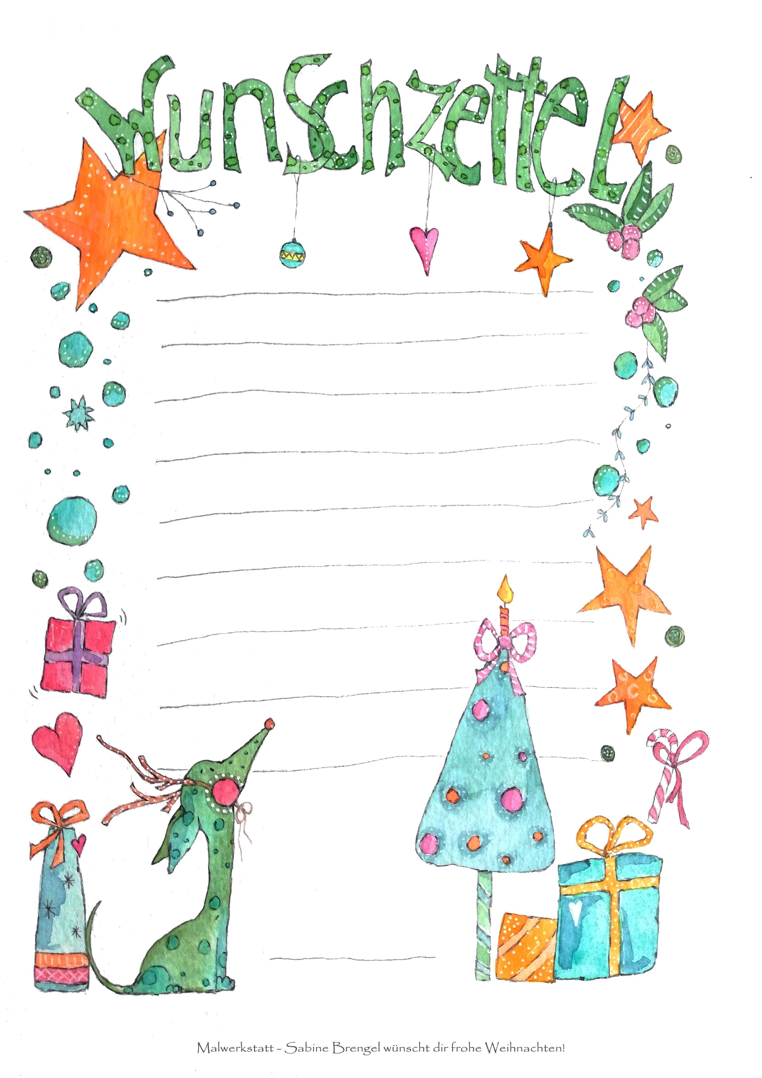 Wunschzettel Fur Kinder Wunschzettel Basteln Weihnachten Kindergarten Weihnachten
