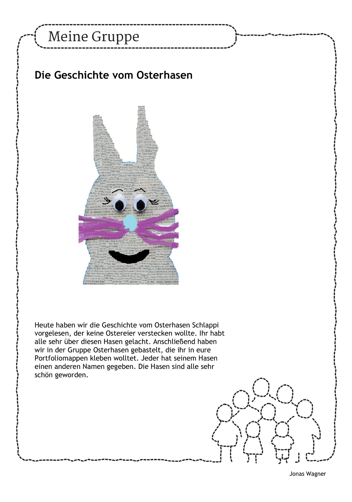 Diy Osterhase Portfolio Thementag Kinder Kindergarten Erzieher Erzieherin Kindi Arbeit Ostern Osterfest Por Osterhase Entwicklung Kleinkind Kinder