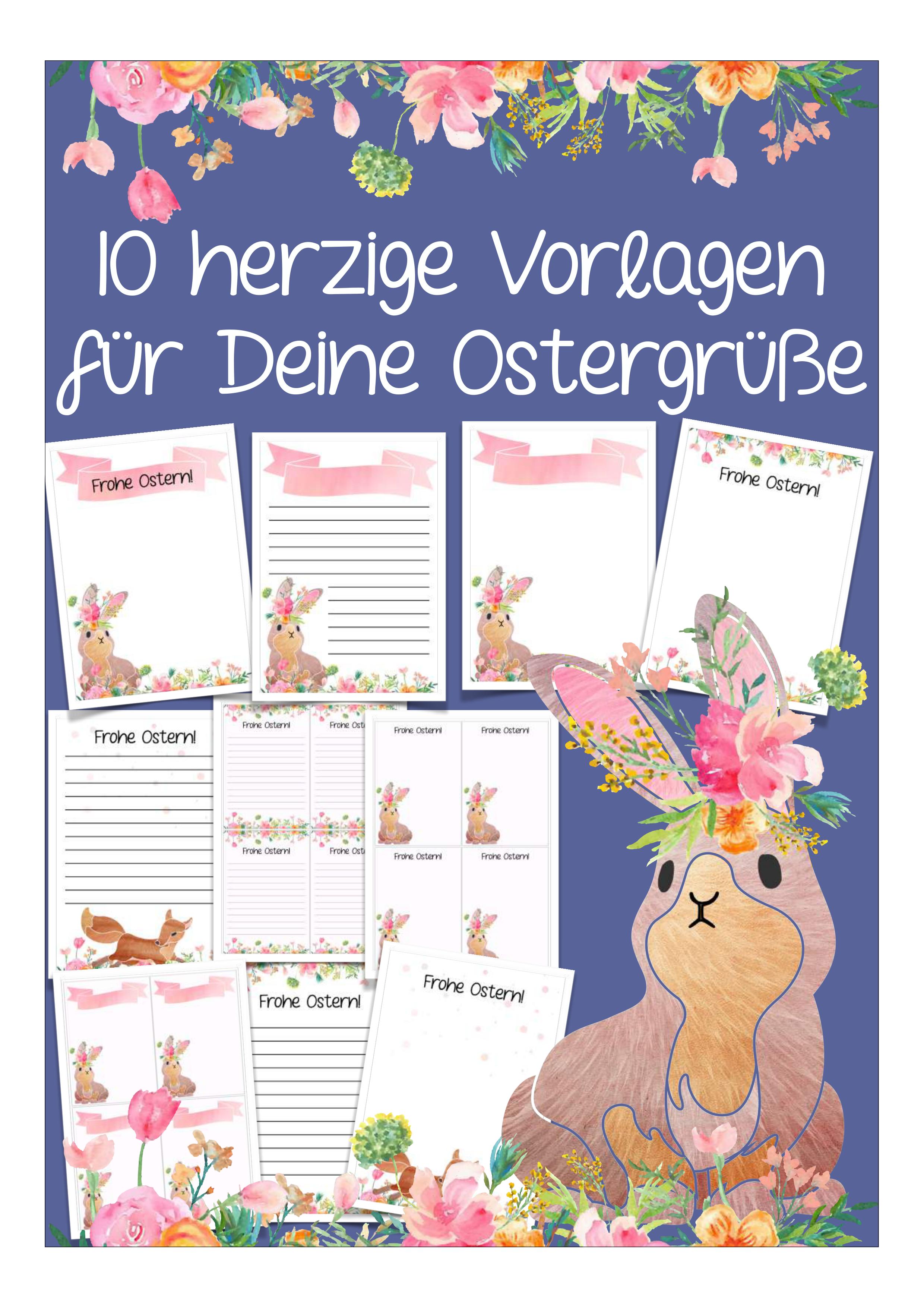 10 Vorlagen Fur Ostergrusse Unterrichtsmaterial In Den Fachern Deutsch Fachubergreifendes In 2020 Unterrichtsmaterial Ostern Grundschule Grusse