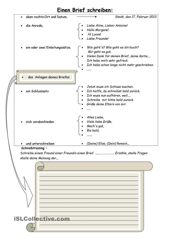 Einen Brief Schreiben Briefe Schreiben Brief Deutsch Brief Schreiben Grundschule