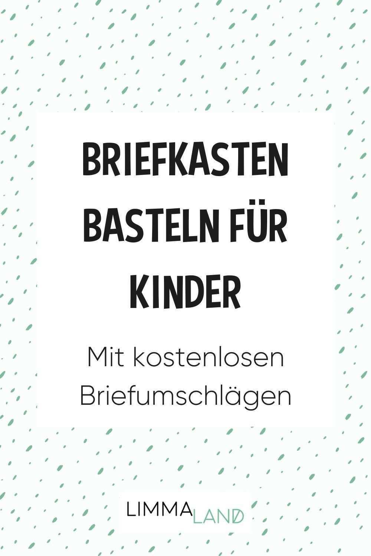Kinderpost Selber Machen Inkl Bastelvorlage Fur Postkarten Kinder Basteln Bastelvorlagen