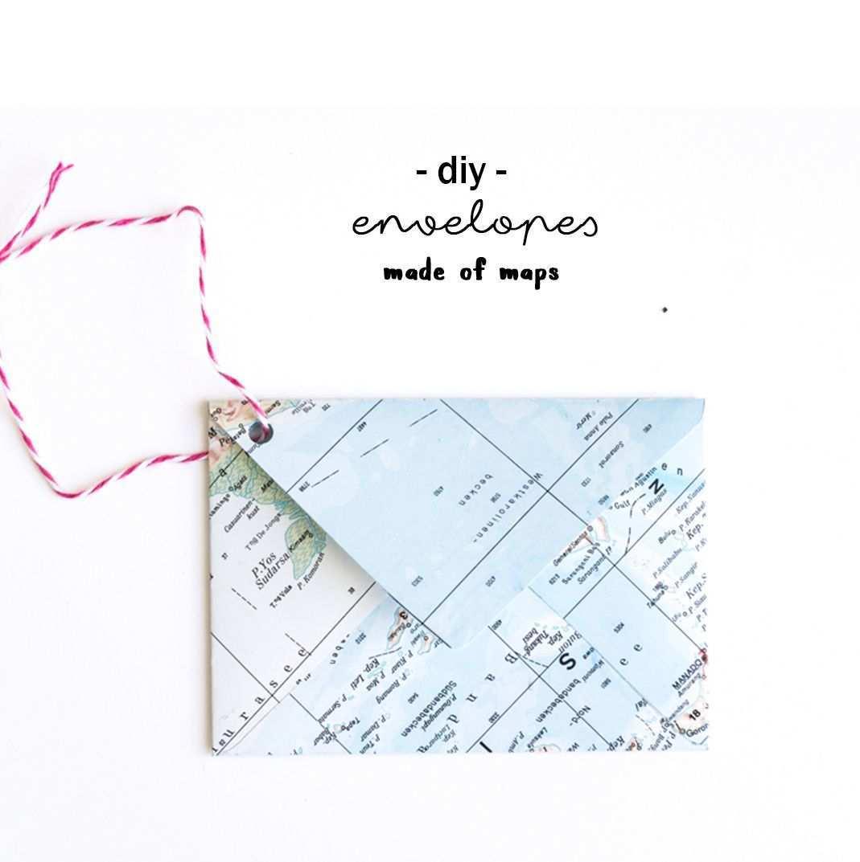 Wie Du Aus Einer Atlas Seite Einen Briefumschlag Falten Kannst Briefumschlag Falten Briefumschlag Umschlag Basteln