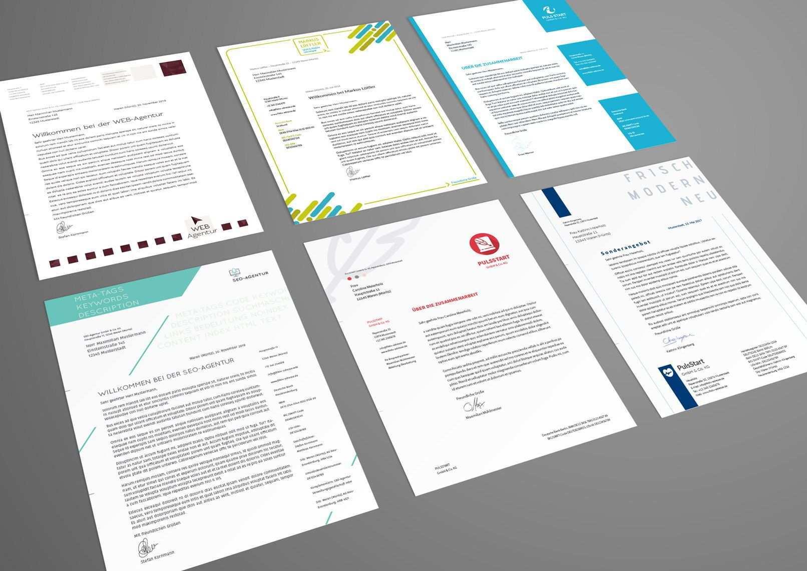 Briefpapier Vorlagen Zum Ausdrucken Briefpapier Vorlage Briefbogen Vorlage Logo Design Tutorial