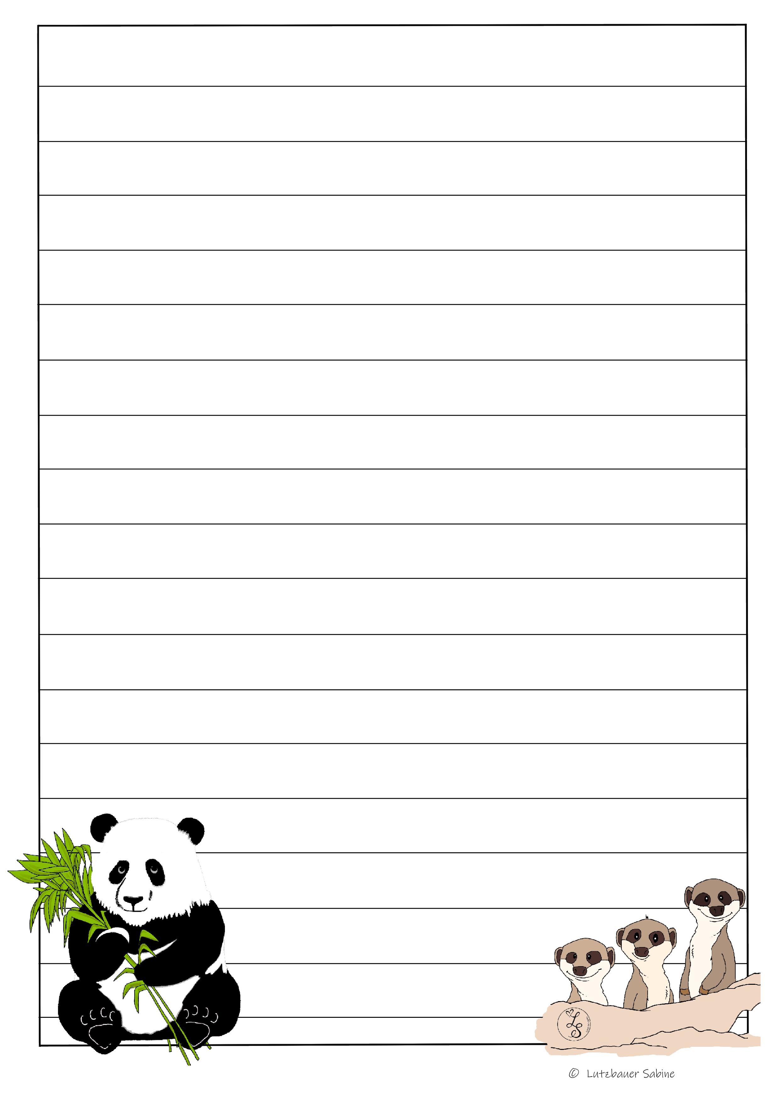 Briefpapier Pandabar Erdmannchen Lieblings Stuck Unterrichtsmaterial In Den Fachern Deutsch Englisch Fachubergreifendes Franzosisch Briefpapier Drucken Briefpapier Kostenlose Grafiken