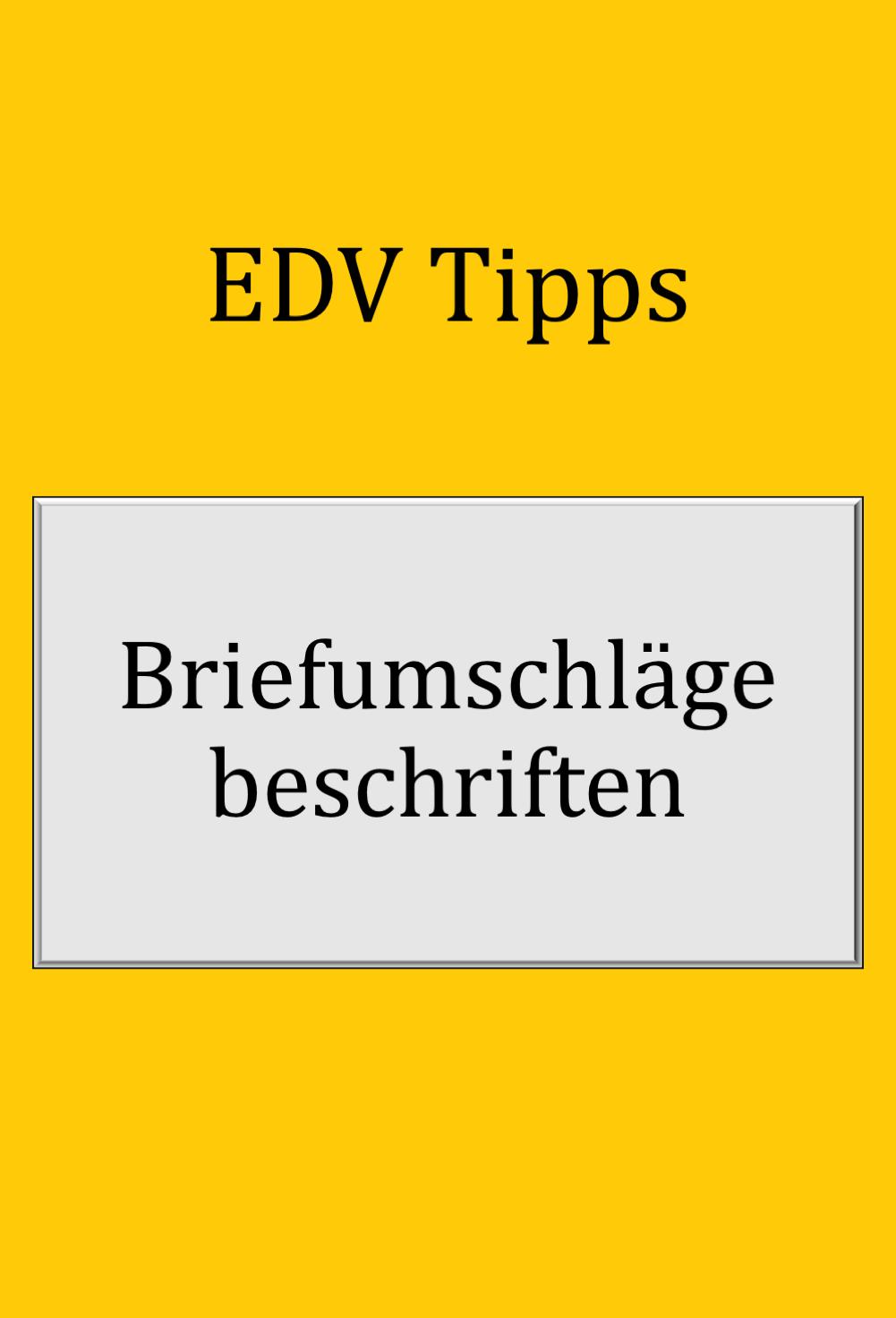 Word Tipps In 2020 Briefumschlag Bedrucken Briefumschlag Umschlag
